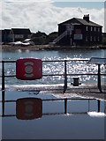 SZ1891 : Mudeford: quayside lifebuoy by Chris Downer
