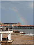 TQ8109 : Rainbow over Hastings Pier by Oast House Archive