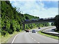 SK0381 : Bridge over the A6 at Whitehough by David Dixon