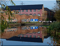 SK5702 : Factories at St. Mary's Mill Lock by Mat Fascione