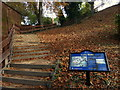 SK5804 : Steps leading up Leicester Castle Motte by Mat Fascione