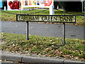 TG1908 : Earlham Green Lane sign by Adrian Cable