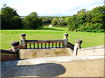 SU7209 : Terrace and steps in Staunton Country Park by Shazz