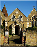 TQ0044 : Holy Trinity, Bramley by Peter Trimming