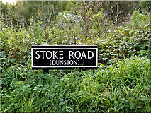 TG2202 : Stoke Road sign by Adrian Cable
