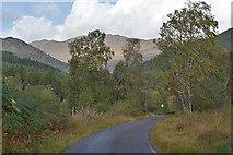 NH3231 : The Mullardoch road dropping into Glen Cannich by Nigel Brown