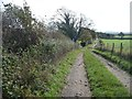 NY2449 : Public footpath from Aikhead, nearing Wigton cemetery by Christine Johnstone