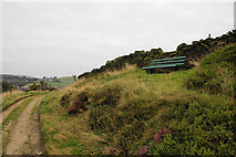 SE1407 : Bench overlooking the Holme Valley by Bill Boaden