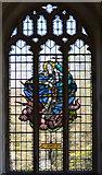 TQ9644 : Stained glass window, St Margaret's church, Hothfield by Julian P Guffogg