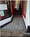 SX9472 : Tiled floor to a barber's shop entrance, Brunswick Street, Teignmouth by Robin Stott