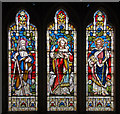TQ8514 : Stained glass window, St Laurence church, Guestling by Julian P Guffogg