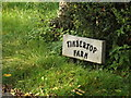 TM2163 : Timbertop Farm sign by Adrian Cable