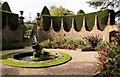SY7794 : Ornamental fountain, Athelhampton House Gardens by Derek Voller
