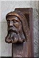 TL4058 : St Peter, Coton - Bench end by John Salmon