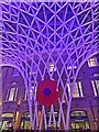 TQ3083 : Remembrance poppy at King's Cross concourse by Steve  Fareham