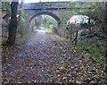 SE4347 : Bridge over former railway track now The Wetherby Railway Path by Steve  Fareham