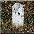 SK6012 : Stone marker near Junction Lock by Mat Fascione