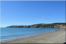 SH1626 : Coastline near Porth Simdde from west of Aberdaron by John Firth