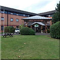 SP3064 : Entrance to a Holiday Inn near Leamington Spa by Jaggery