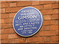 SK5903 : Blue Plaque for Ernest William Gimson by Bob Harvey