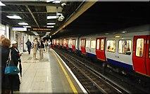 TQ2879 : District Line, Victoria Underground Station by N Chadwick