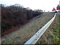 SP0773 : Blackoak Wood meets the A435 Alcester Road at M42 junction 3 by Robin Stott