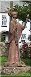NU1241 : Statue of St. Aidan by David Chatterton