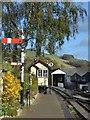 SJ1006 : Signal and signal box at Llanfair Caereinion by John M