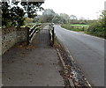 ST9268 : Gated western end of a walkway to Lacock Bridge by Jaggery