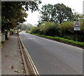 ST9268 : Slow down - single track road ahead east of Lacock by Jaggery