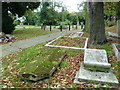 TQ1785 : Looking towards the war memorial, St John's Churchyard, Wembley by Marathon