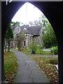 TQ1785 : View through the lych gate into St John's Churchyard, Wembley by Marathon
