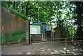 TQ5446 : Leigh Station entrance by N Chadwick