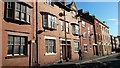 SK5903 : Midland red brick houses in low sunlight by David Martin