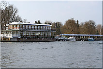 SU7682 : Phyllis Court Grandstand, Henley-on-Thames from over the river by Jo Turner