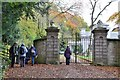 NY6215 : Entrance gates, Flass House by Jim Barton