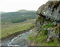 SN7763 : Rocky outcrop on Lon Las Cymru, Ceredigion by Roger  Kidd