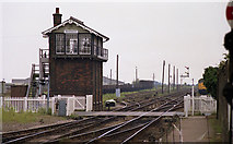 TL4197 : March - East Junction Signal Box by Dave Bevis