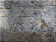 ST6601 : Bench mark, St Mary's Church, Cerne Abbas by Becky Williamson