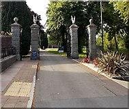 SX9063 : Torre Abbey Gates, Torquay by Jaggery