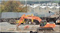 J3272 : The South Stand, Windsor Park, Belfast (site of) (October 2014) by Albert Bridge