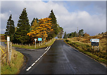 NN7754 : The B846 at Schiehallion Road by Ian S