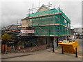 SO5012 : Under scaffolding near Monmouth Bridge by Jaggery