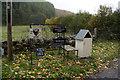 NN6757 : Eggs for sale at Dalchosnie Farm by Ian S