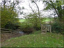 SS7007 : Stile and footbridge over the Coldridge Brook by David Smith