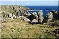 SW3522 : Outcrops on Carn Barra by Bill Boaden