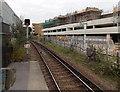 SZ3295 : Signal BH22 at Lymington Town railway station by Jaggery