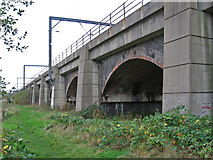 SK6592 : Bawtry - railway viaduct (from N) by Dave Bevis