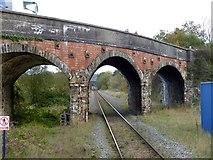 SS7207 : A377 bridge over the Tarka Line at Lapford (2) by David Smith