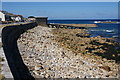SW3526 : Stony seafront by Sennen Cove harbour by Bill Boaden